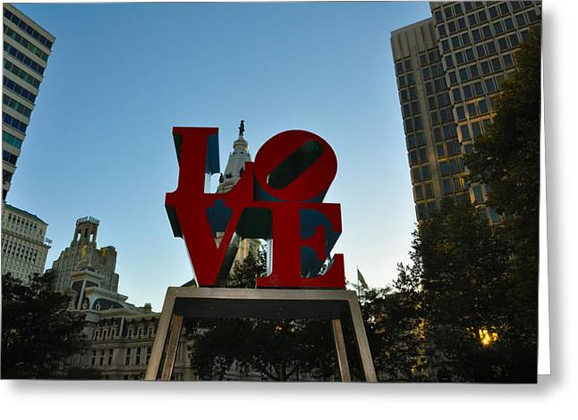 Love Park In Philadelphia Greeting Card by Bill Cannon