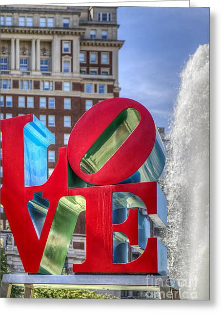 """jfk Plaza"" Greeting Cards - Love Park Philadelphia  Greeting Card by David  Zanzinger"