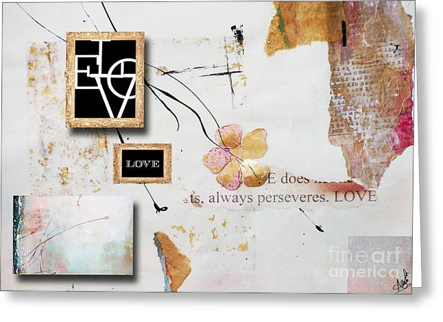 Houzz Greeting Cards - Love perservers Nature Collage Greeting Card by Anahi DeCanio - ArtyZen Studios
