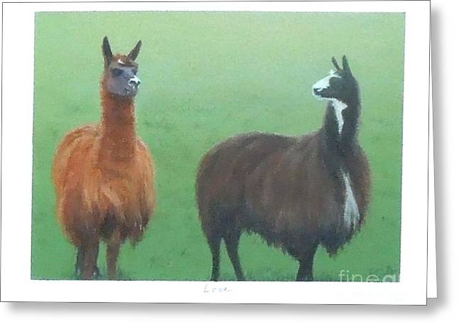 Animals Love Greeting Cards - Love Greeting Card by Phyllis Andrews