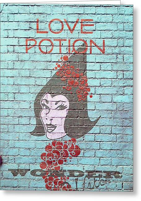 Directional Signage. Greeting Cards - Love Potion Greeting Card by Laurie Perry