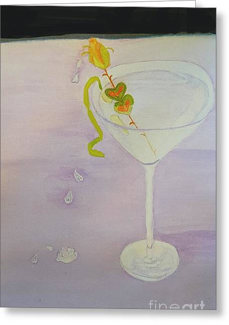 Love Potion Valen-tini In Moderation Greeting Card by ARTography by Pamela Smale Williams