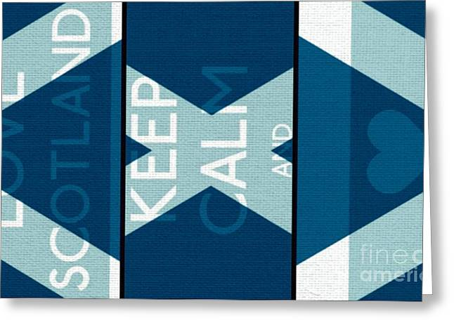 Carry On Art Greeting Cards - Love Scotland Greeting Card by Daryl Macintyre