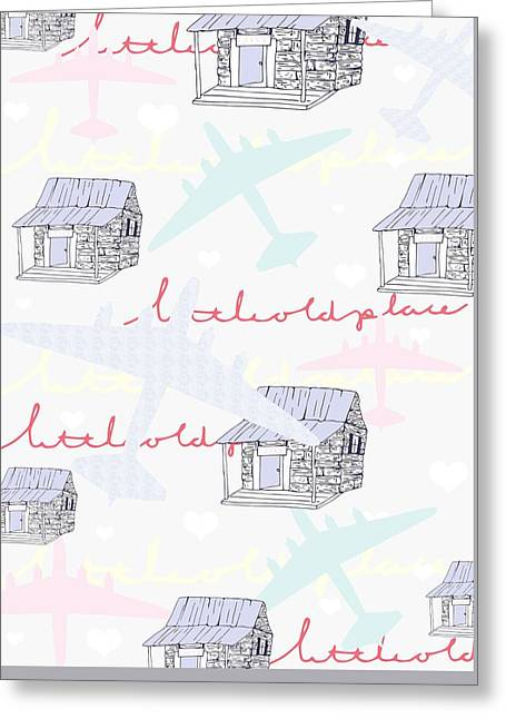 Repeat Drawings Greeting Cards - Love Shack Greeting Card by Beth Travers