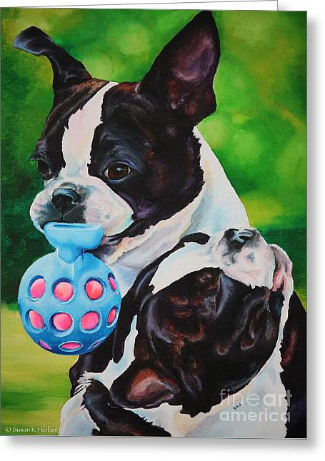 Toy Dog Greeting Cards - Love Greeting Card by Susan Herber