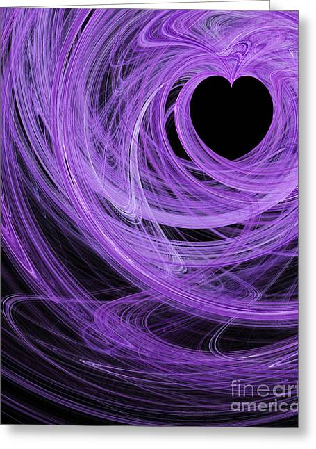 Home Decor Greeting Cards - Love Swirls . A120423.689 Greeting Card by Home Decor
