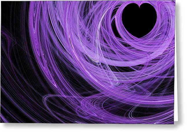 Love Swirls . Square . A120423.689 Greeting Card by Wingsdomain Art and Photography