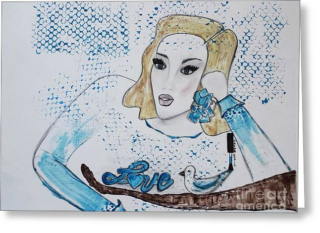 Art Book Greeting Cards - Love To Dream Greeting Card by Jasna Gopic