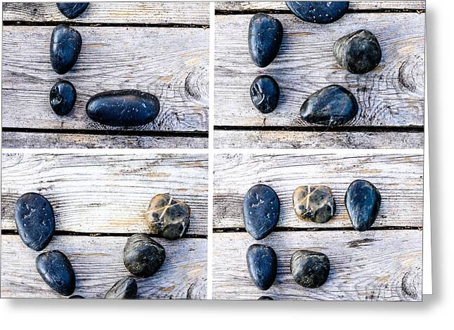 Old Plank Tables Digital Greeting Cards - Love Greeting Card by Toppart Sweden