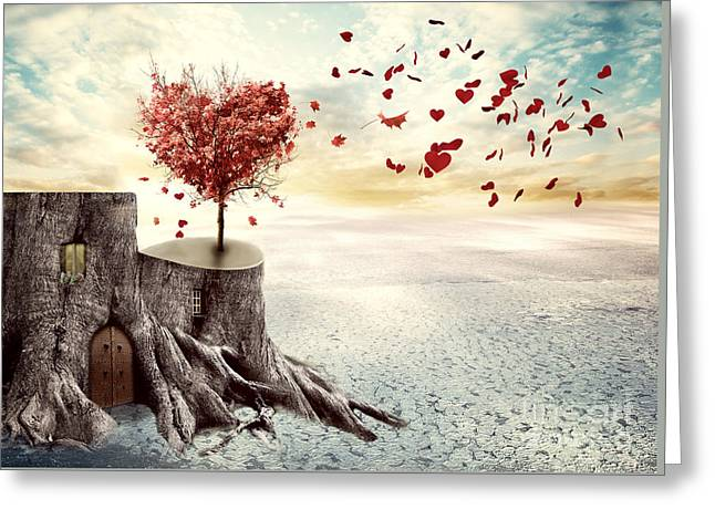 Love Tree Greeting Card by Juli Scalzi