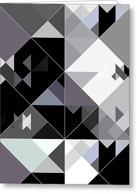 Geometric Design Greeting Cards - Love Triangle 1 Greeting Card by Marcio Pontes