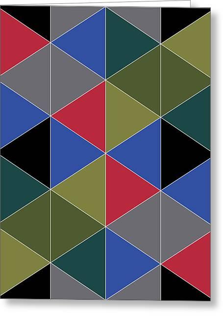 Geometric Design Greeting Cards - Love Triangle 3 Greeting Card by Marcio Pontes