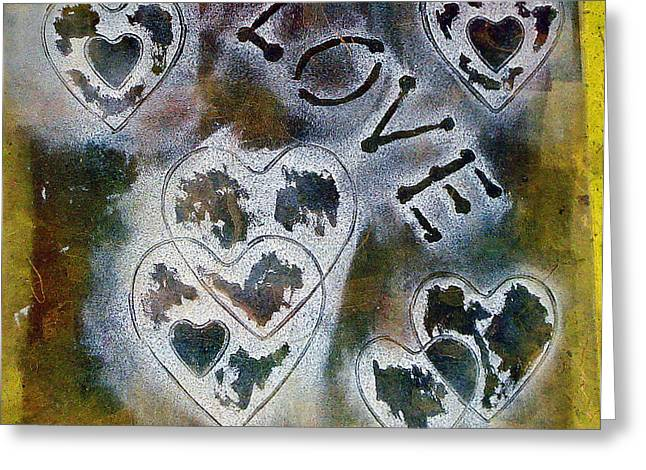 Heart Reliefs Greeting Cards - Love Will Find You Greeting Card by Yael VanGruber