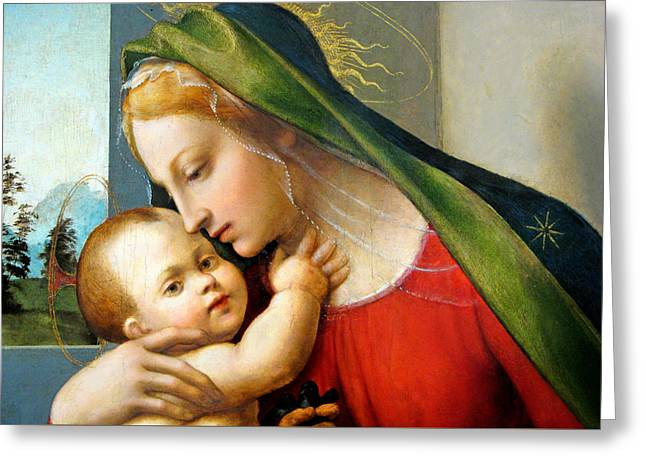 Baby Jesus Greeting Cards - Love Within Greeting Card by Munir Alawi