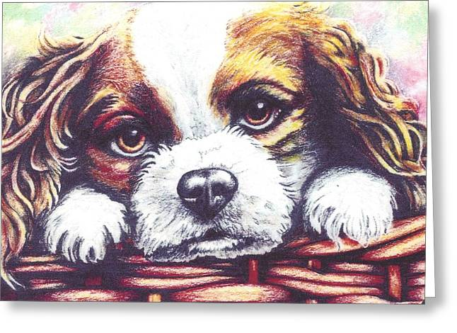 Amimal Greeting Cards - Loveable Pup Greeting Card by Thomas Laird