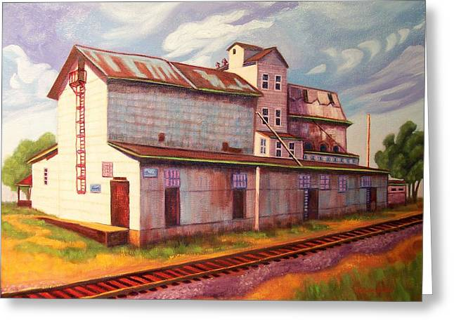 Loveland Feed And Grain Mill Greeting Card by Ruth Soller