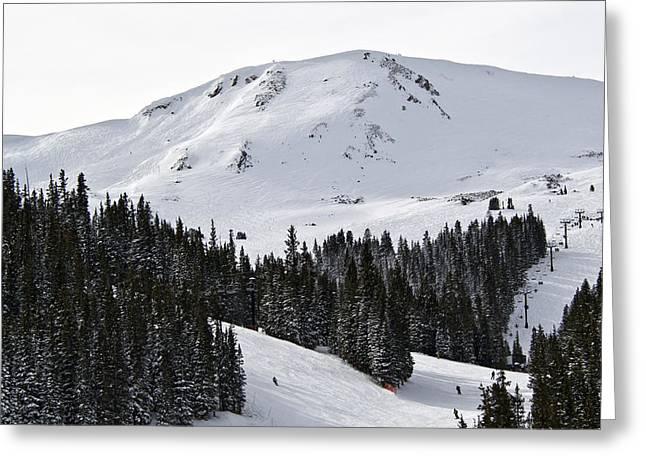 Loveland Greeting Cards - Loveland Pass Ski Area Colorado Greeting Card by Brendan Reals