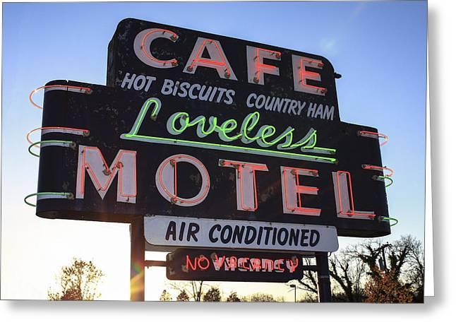 Loveless Cafe And Motel Nashville Greeting Card by David M Porter