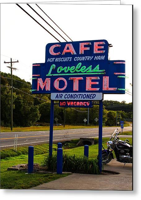 Loveless Cafe Sign Greeting Card by Denise Keegan Frawley