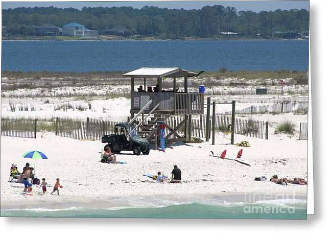 Shack Greeting Cards - Lovely beach day Greeting Card by Michelle Powell