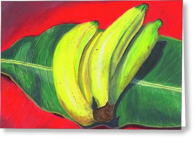 Restaurant Pastels Greeting Cards - Lovely Bunch of Bananas Greeting Card by Arlene Crafton
