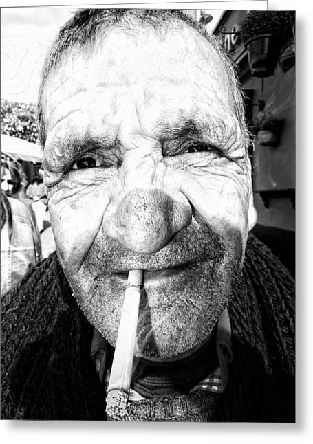 Considerate Greeting Cards - Lovely Man  Portrait Greeting Card by Daniel Gomez