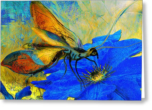 Insect Mixed Media Greeting Cards - Lovely Meal Greeting Card by Anne Weirich