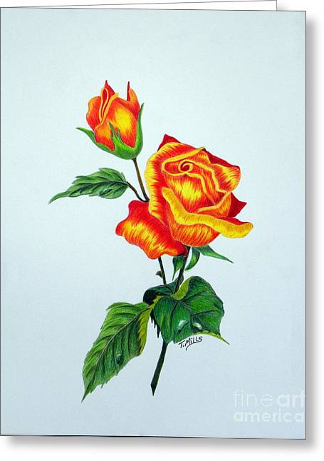 Lovely Rose Greeting Card by Terri Mills