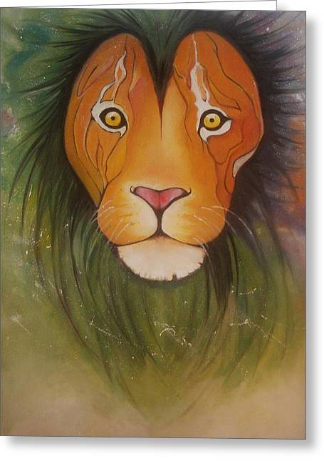 Lovelylion Greeting Card by Anne Sue