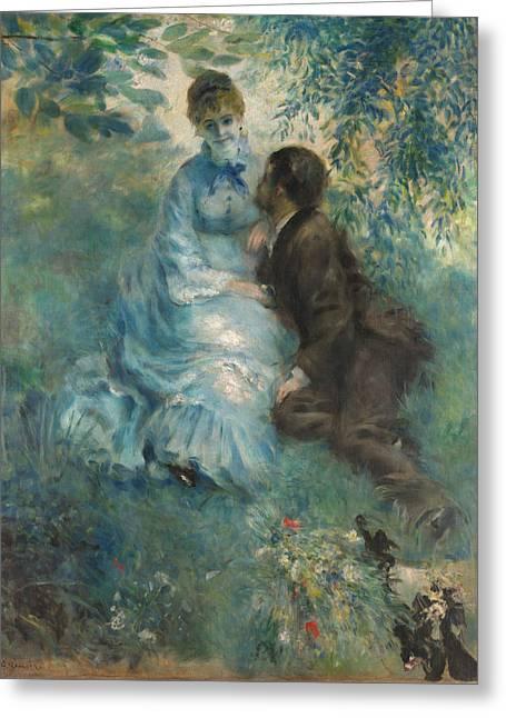 Renoir Greeting Cards - Lovers Greeting Card by Auguste Renoir