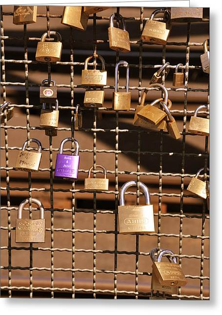 Locket Greeting Cards - Lovers Locks 2 Greeting Card by Noah Cole
