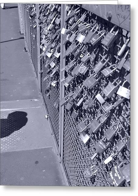 Locket Greeting Cards - Lovers Locks 3 Greeting Card by Noah Cole