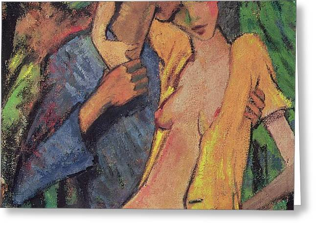 Lovers Greeting Card by Otto Muller
