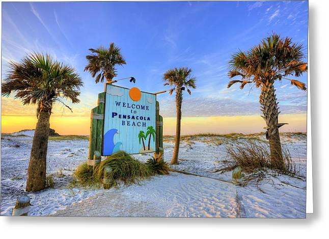 Loving Pensacola Beach Greeting Card by JC Findley