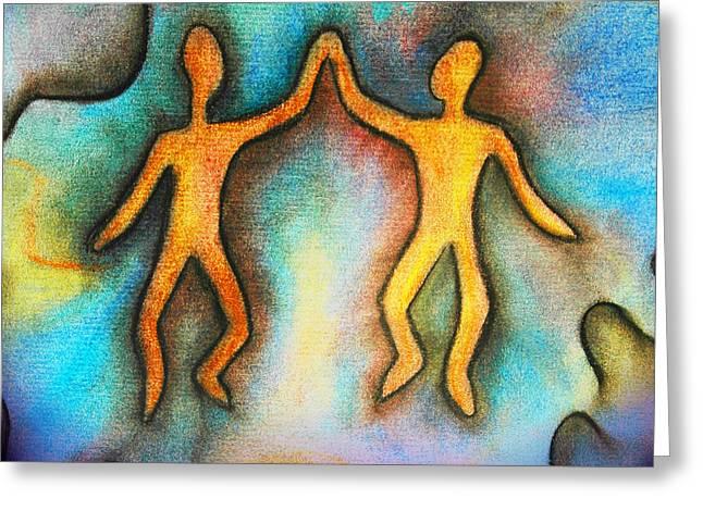 Spirit Pastels Greeting Cards - Loving Spirits Greeting Card by Robin King
