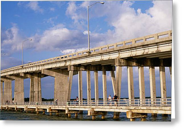 Florida Bridge Greeting Cards - Low Angle View Of A Bridge, Marco Greeting Card by Panoramic Images