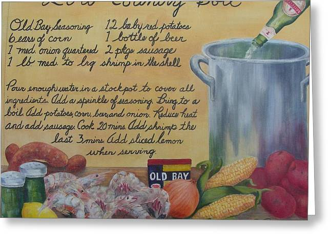 Southern Comfort Greeting Cards - Low Country Boil Greeting Card by Paula Robertson