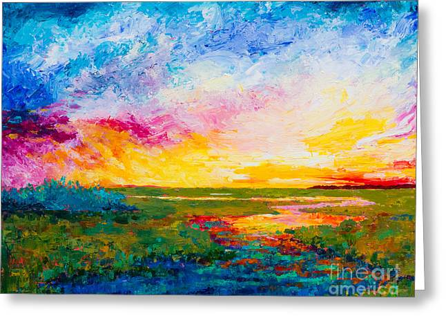 Tidal Creek Scene Greeting Cards - Low Country Vibes Greeting Card by Alexandra Nicole Newton
