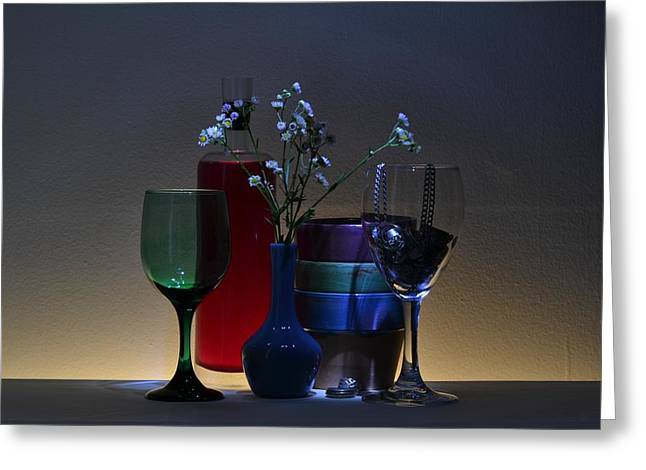 Glass Vase Greeting Cards - Low Light Delights Greeting Card by Brad  Andrews