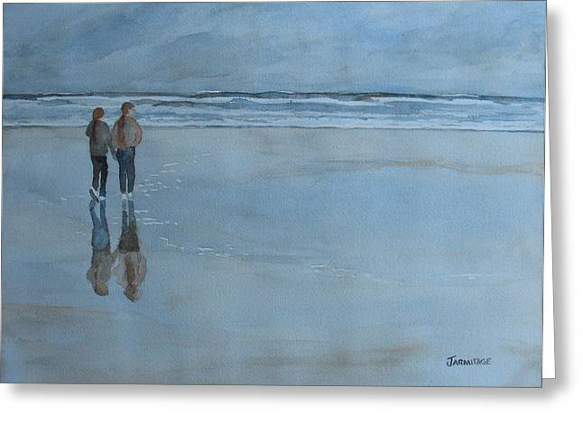 Low Tide At Agate Beach Greeting Card by Jenny Armitage
