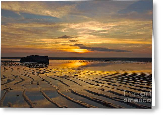Mayflower Beach Greeting Cards - Low Tide at Mayflower Beach Greeting Card by Amazing Jules