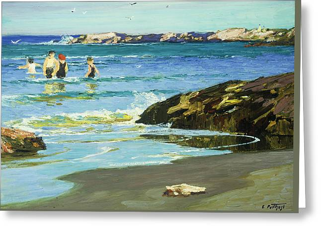 Low Tide Greeting Card by Edward Henry Potthast