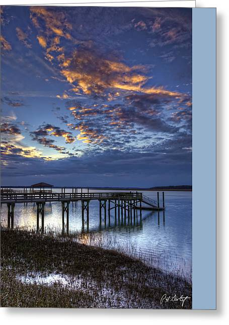 Beaufort County Greeting Cards - Low Tide Long Dock Greeting Card by Phill  Doherty