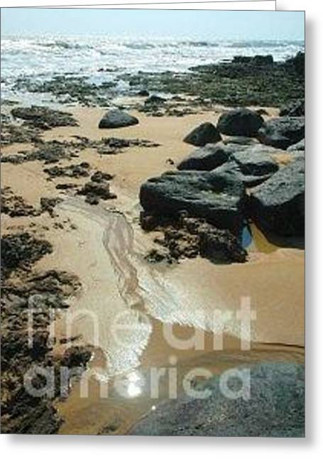 Outgoing Tide Greeting Cards - Low Tide On Naozhoa Island Greeting Card by Bruce Slaugenhaupt
