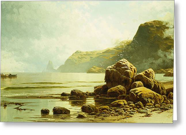 Low Tide, Southhead, Grand Manan Island Greeting Card by Alfred Thompson Bricher