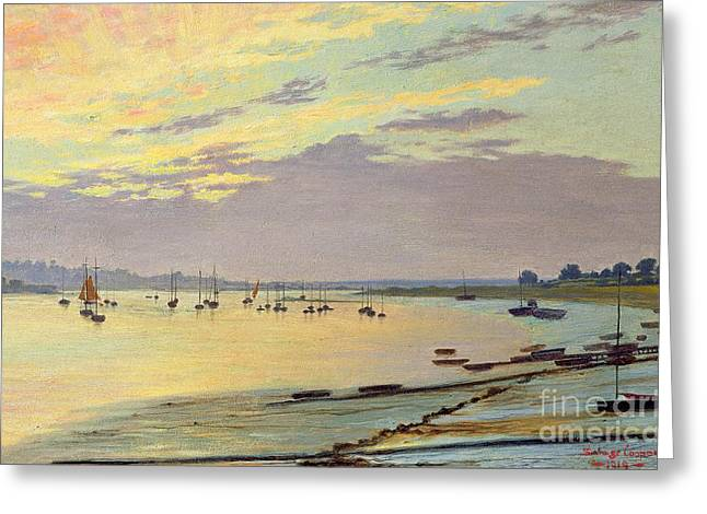 Seascapes Greeting Cards - Low Tide Greeting Card by W Savage Cooper