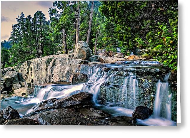 Water Flowing Greeting Cards - Low Water Greeting Card by Maria Coulson