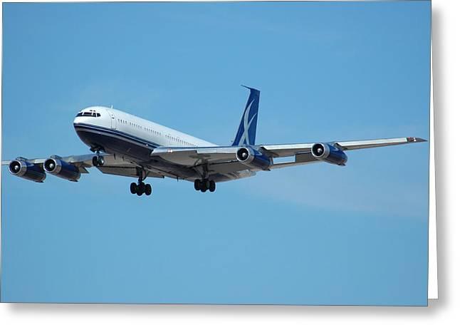 Jetliner Greeting Cards - Lowa Limited Boeing 707 N88ZL Greeting Card by Brian Lockett