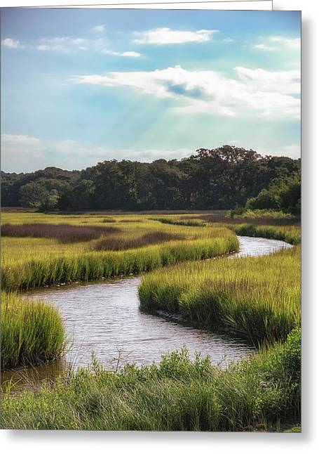 Hilton Greeting Cards - Lowcountry Creek Greeting Card by Drew Castelhano