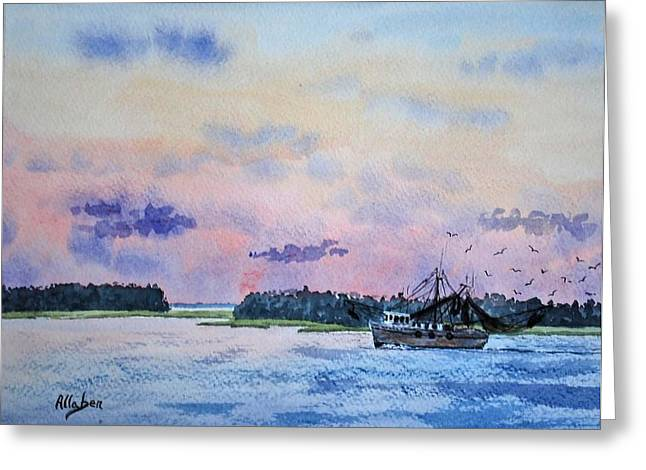 Stanton Allaben Greeting Cards - Lowcountry Shrimper Greeting Card by Stanton Allaben